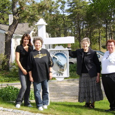 Pop's passing was so unexpected...Here we are in front of the Chatham home Pops so loved...just six days after his death. We arrived for a vacation/visit just a day after his passing. He loved the Chatham home so much he had this fancy sign made for the f