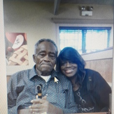 Me and daddy at Golden Corral
