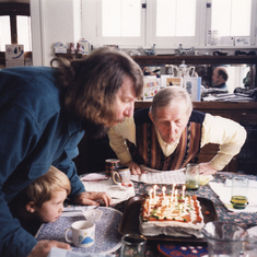 Chet and Erling birthday boys, Chet is about 68, see video section for his 88th