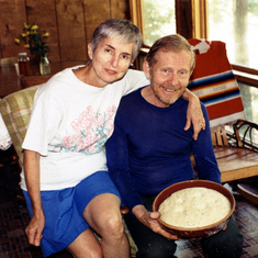 Bread baking at the cabin