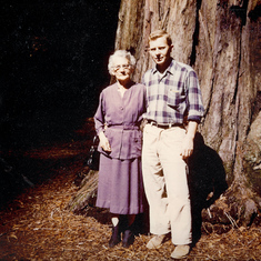 Chet and his mother, Nora, in California.  He is in grad school.
