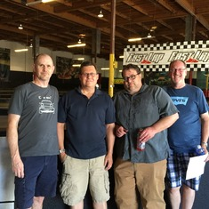 John, Gregg, Chris and Robert at the indoor track Las Vegas July 11th, 2015