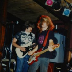 Pony Express Pizza in Redwood City, or first public gig. 1991 or so.