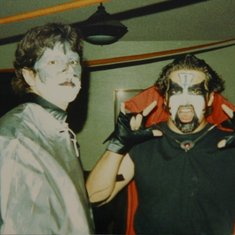 Chris at Halloween as King Diamond. maybe 1992.