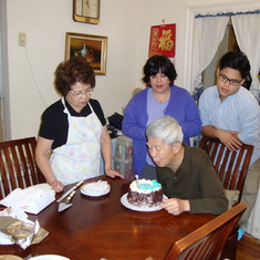 Your Grandfather blows out the candle on your cake. 2012-12-01