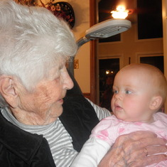 Thanksgiving 2010..Great Grandmother with Rachel...we love and miss you!!!!!!!