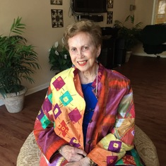 She loved colorful jackets!