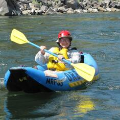 Enjoying the heck out of this! Lower Fork of Salmon River, Idaho August 2013