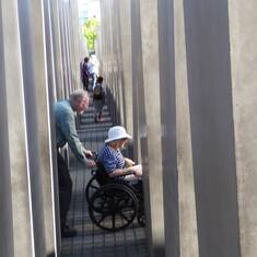 Playing Games with Mom - at Holocaust Memorial, Berlin Germany August 2015