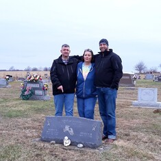 We went and visited you dad, love Lisa, Brian, and Chad