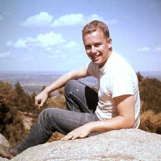 Joan's favorite photo of Dan. Taken in Colorado in 1960.