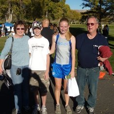 Papa loved to watch Eric and Kalli run cross country!