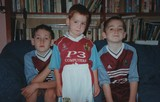 Three young Burnley fans