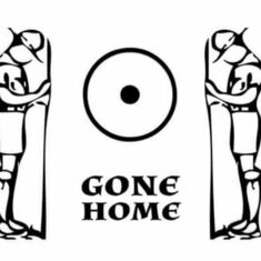 'Gone home' a Scout motif symbolising that you have reached the end of your trail & Gone Home.