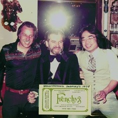 Darrell, Bill, & Tim at Grand Opening of Frenchy's, 1979.