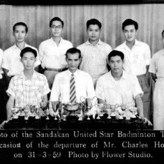 Just sharing an image from my 60-year old album......Badminton champions of Sandakanakan