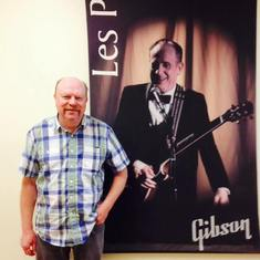 Touring the Gibson Guitar Factory. Dave found Les Paul, the Wizard of Waukesha.