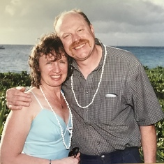 Celebrating their 25th Anniversary in Hawaii.