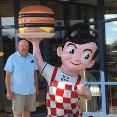 Trip to Marquette, Michigan. The Big Boy is a bit of a rarity these days, so he had to get a picture.