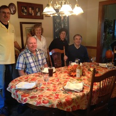 Celebrating an early Thanksgiving with David, Dawn, Dennis & Patsy