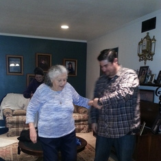 If Grandma wanted to dance...David was there to take her hand! ❤️❤️ Jan. 2016