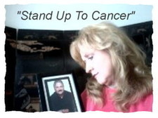 "I Miss you, David. "" Stand up to Cancer"""