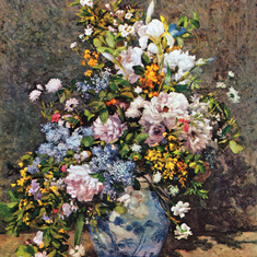 AugusteRenoir1866BouquetOfSpringFlowers .. I shared this today, on March 20th, 2014, The First Day of Spring in memory of Deanna. Dr. Stone, Tampa, Florida.