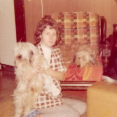 Denise with a few of her dogs Mupya & Daisy