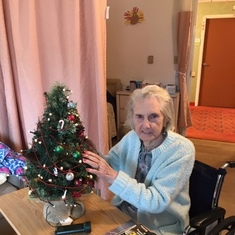 Denise and Suzanne made decorations for her Christmas tree 2019, she was very proud of how it turned out
