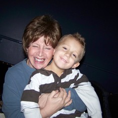 Grammy and Tanner at the movies 2008