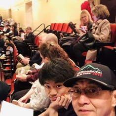 With Andrew during the break while listening to Mr. Perlman's violin at Chicago Symphony Orchestra