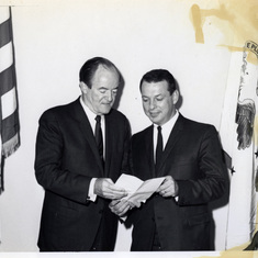 Don with Vice-President Hubert H Humphrey
