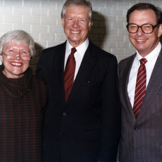 Don and Arvonne with president Jimmy Carter