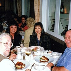 Bill, Betty, May & Don - enjoying each other over food!  (SF, 1997)