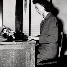 Dec. 1945 Working at Boy Scouts of America Office in Twin Falls, IDI