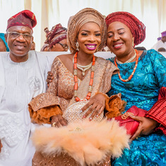 Daddy and Mummy with Doyinsola, Ayomide's wife.