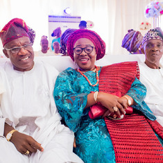 Daddy at Ayomide's wedding ceremony