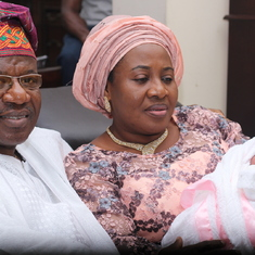 Daddy at Anjola's naming ceremony
