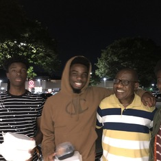 Ogedegbe young men enjoying a night out with Uncle Sege.... words of wisdom galore!