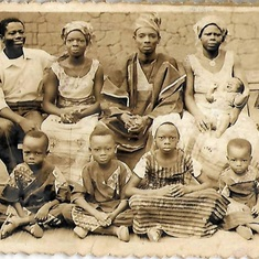 A great Picture of YOUNG DR DONATUS OKURUMEH and his Parents Pa Ashigor and Mum Ofigo and Siblings