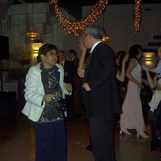 Uncle Kiko and Auntie Manang dancing at Lola's party