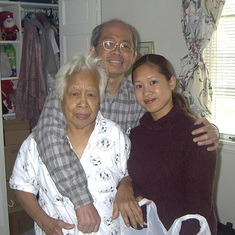 Uncle Kiko, Lola and Raechelle before Lola's 90th birthday party!