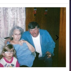 Kara Cadd (granddaughter),Granny Bowles and Lee.