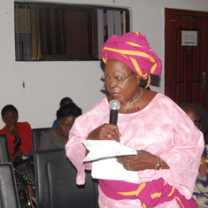"Auntie, witnessing to her own Mum as ""iya kogberegbe"" at the Centre for Gender, Obafemi Awolowo Univ"