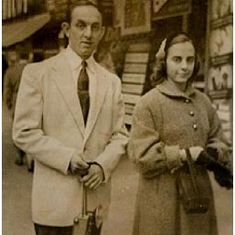 Edward with wife, Annabelle in NYC (circa 1950's)