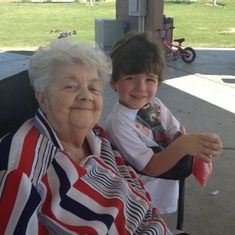 Mom and her great grandson Brody