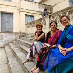 Chilling out after the Mysore Palace Tour