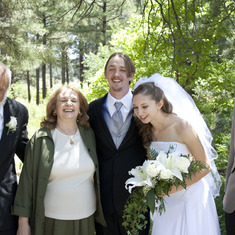The family at Stephanie and Danny's wedding