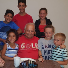 Elwy and his grandkids
