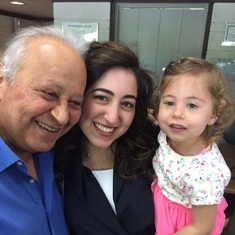 Elwy with his niece and grand niece, Eid 2017